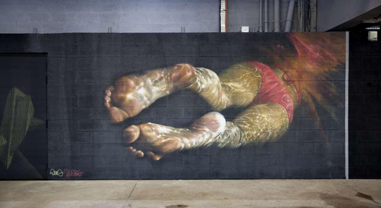 Wall on fire - Les Frères Coulure © Brigitte Baudesson