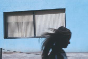 photos © Raphaël Gianelli-MerianoAbout Estonia Girl And Blue Wall Tallinn Print Def
