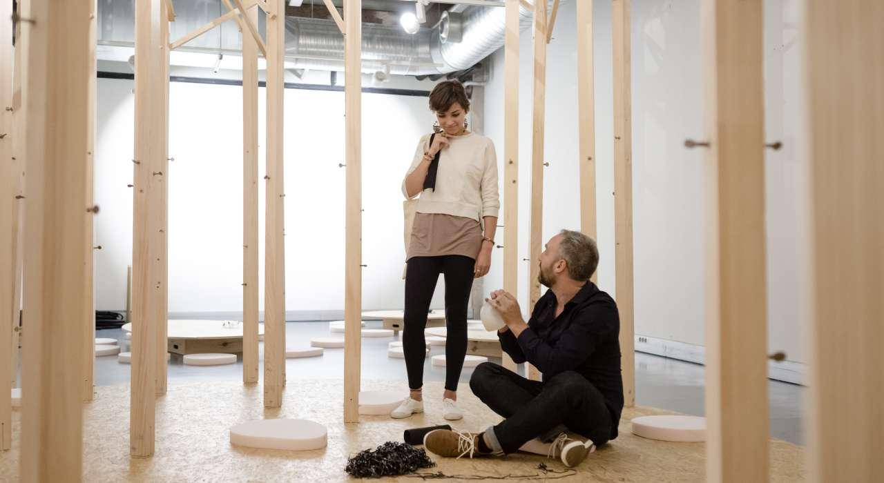 Installation Les Oiseaux © Samuel Lehuédé  - Les Docks - Cité de la Mode et du Design